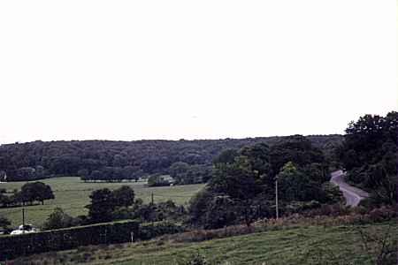 La vallée de Coubron vue depuis la Dhuis.